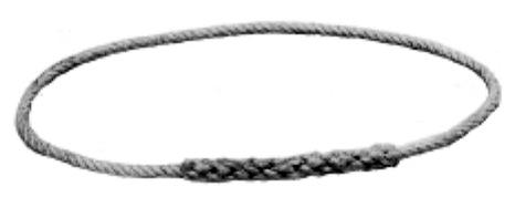 Anello in corda canapa