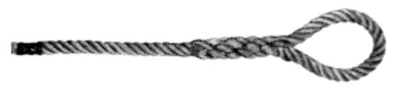 Tirante in corda canapa